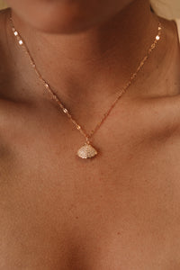 The CZ Clam Necklace