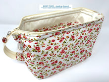 Load image into Gallery viewer, Cosmetic Bags - soft standing -(Sunshine Sale 20% automatic discount) - £1 from each item sold will go to 'CHESTNUT TREE HOUSE, CHILDRENS' HOSPICE' WORTHING