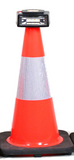 "Traffic Cone- with permanent Cone Top Adapter (size 6""-36"")"