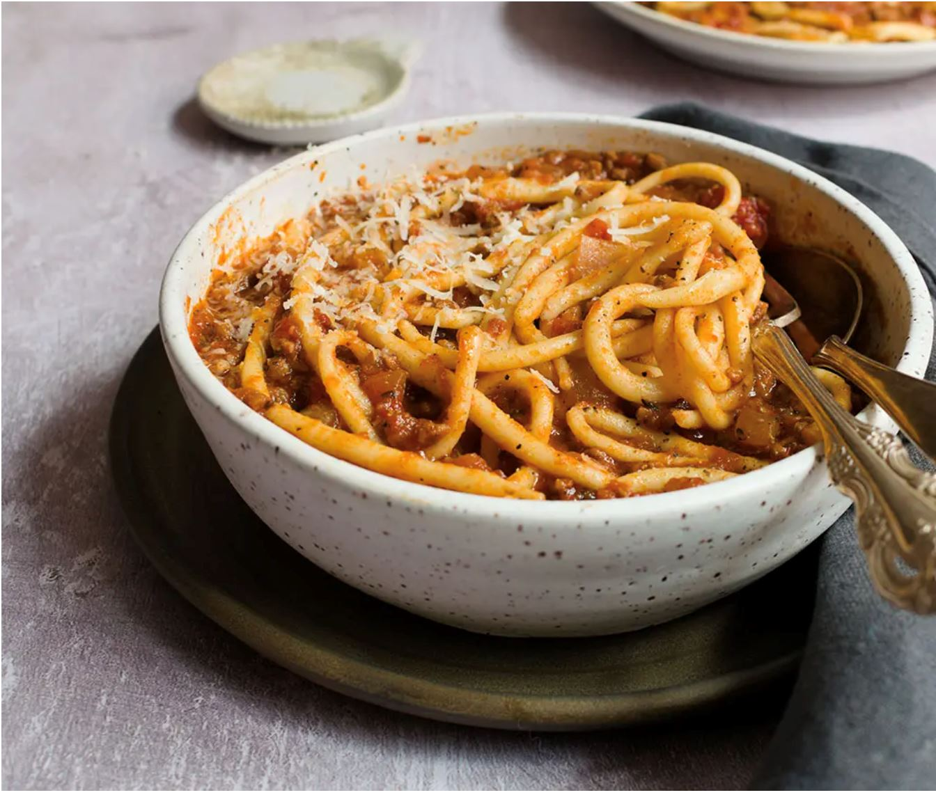 Pici with orange-flavored white ragù
