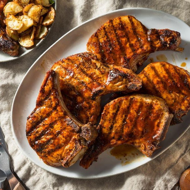 Double cooked pork chops