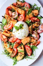Burrata Cheese Salad with Heirloom Tomatoes and Basil