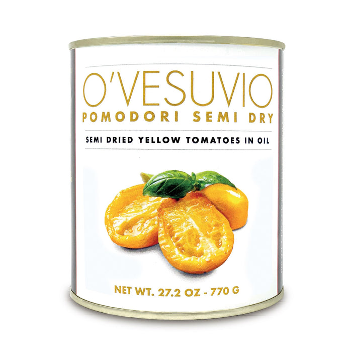 O' Vesuvio Semi-dry yellow tomatoes - Super sweet and tender - 770gr Can