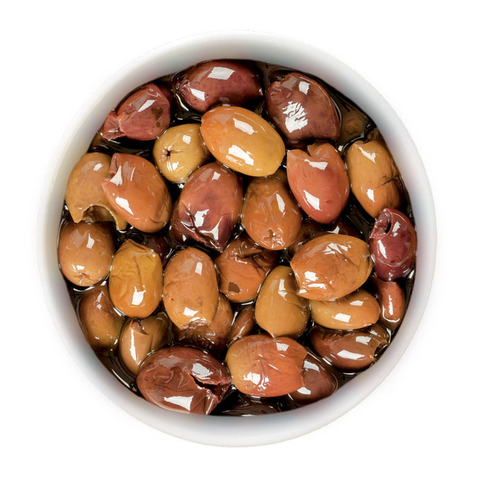 Riviera Pitted Italian Olives in Olive Oil 1Kg (2.2lbs) Jar