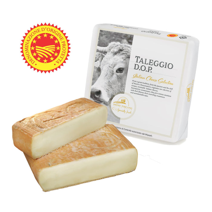 Taleggio DOP Wheel - High Quality Cow Cheese 1kg (2.2lbs)