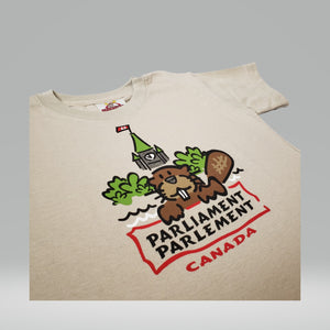 T-shirt Castor gentil | Friendly Beaver Tee