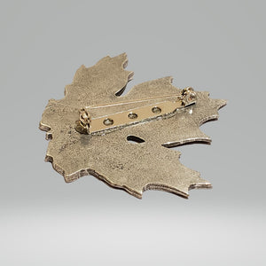 Pewter Brooch (Maple Leaf) | Broche en étain (Feuille d'érable)