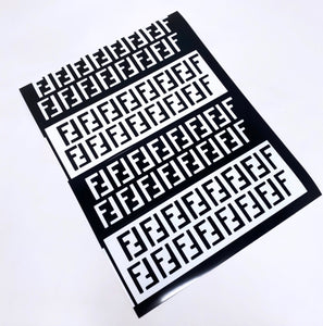 "Custom Fendi ""FF"" Stencil (2 sheets)"