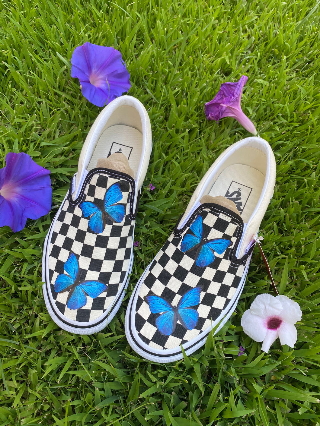 Checkered Butterfly Slips