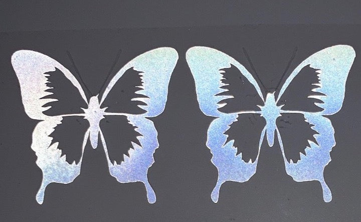 Custom Butterfly Iron-on Transfers (2 Butterflies)