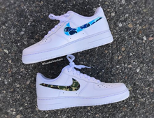 Load image into Gallery viewer, Green/Blue Bape Camo Air Forces