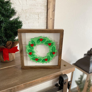 Christmas Wreath Sign