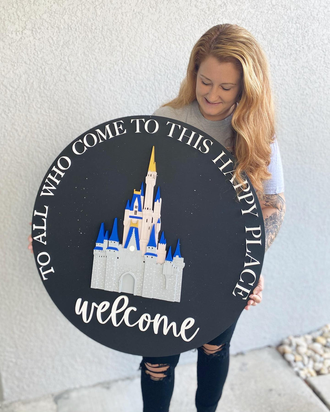 Welcome Castle Sign