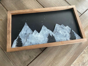 Winter Mountains Sign