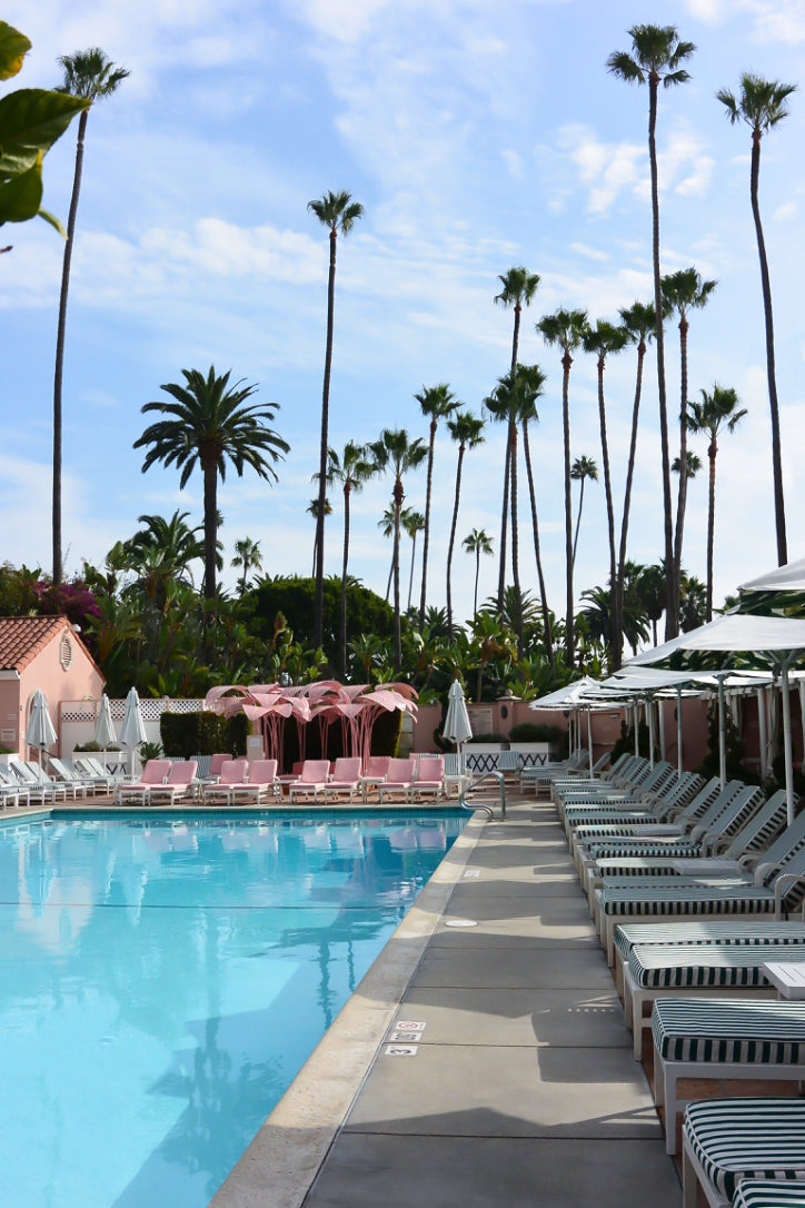 Beverly Hills Hotel, Poolside with Loungers