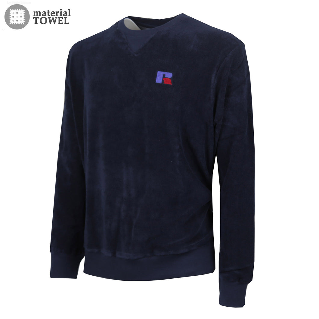 E9-016-1 | CREWNECK SWEATSHIRT WITH EMBROIDERY NAVY