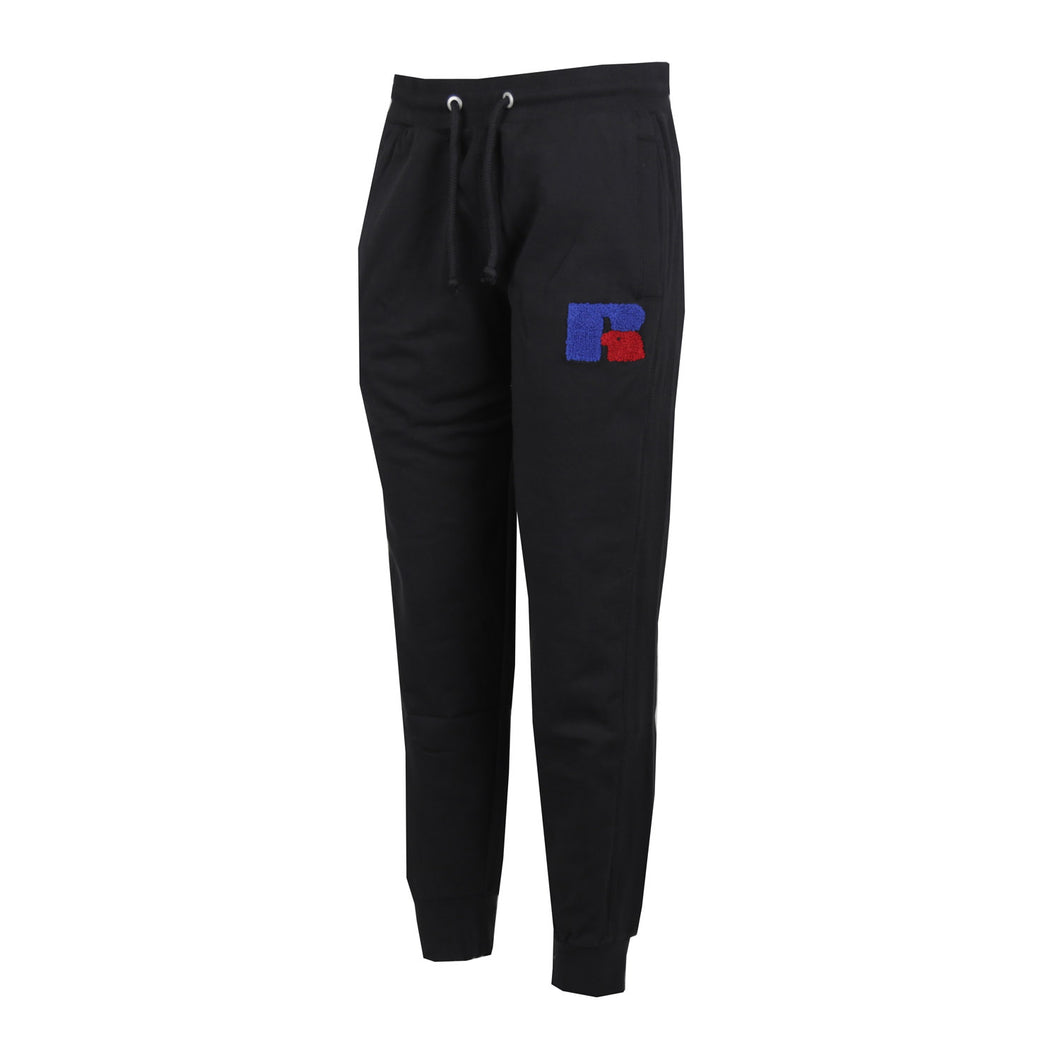 E9-614-1 | AUSTIN-CUFFED JOGGER WITH CHENILLE EMB BLACK
