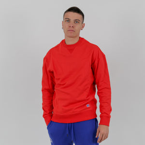 E0-609-1 | FRANK3-CREWNECK SWEATSHIRT RED