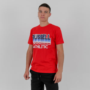 A0-032-1 LAYERED RUSSELL S/S CREWNECK TEE SHIRT