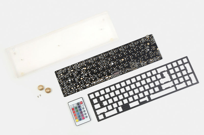 Red Scarf II+ Ver. D Custom Mechanical Keyboard Kit Components