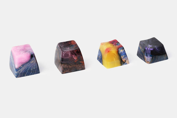 BKD Vivid Stabilized Wood Artisan Keycap