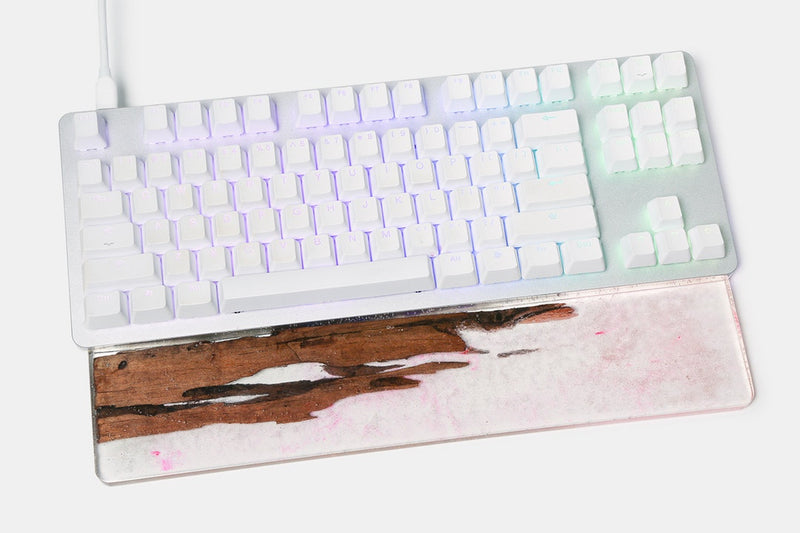 Royal Glam Glitter Resin & Wood Wrist Rest