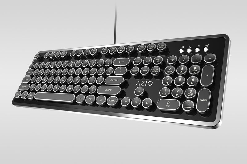 Azio MK-Retro Mechanical Typewriter Style Keyboard