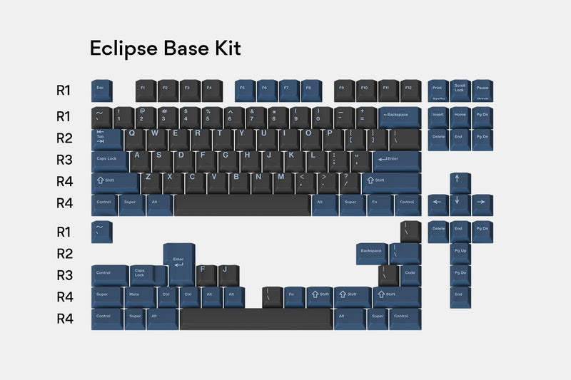 Massdrop x T0mb3ry GMK Eclipse Custom Keycap Set