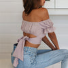 CARINA-Off Shoulder Crop Top