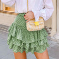 Beach Style Soft Mini Skirt