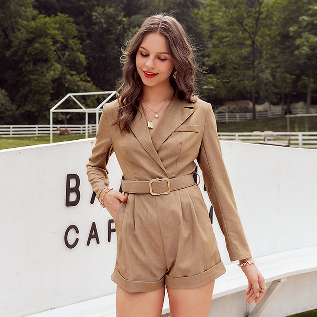 SLAYER- Khaki Romper