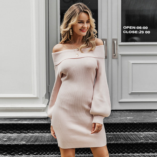 MEL- Off shoulder Knitted Dress