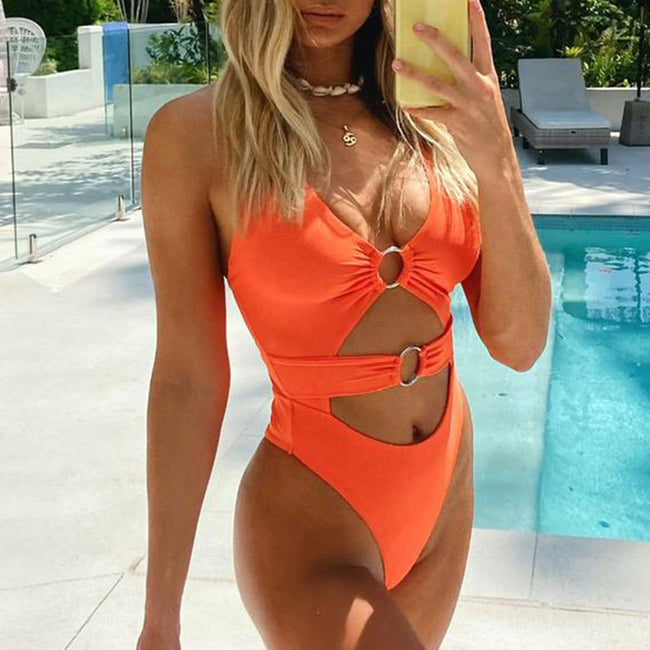 Bonita- High Cut One-Piece Push Up Swimwear