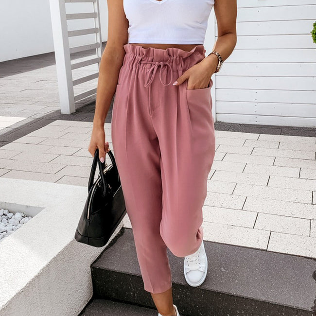 ESTY- Chich Sash High Waist Pants