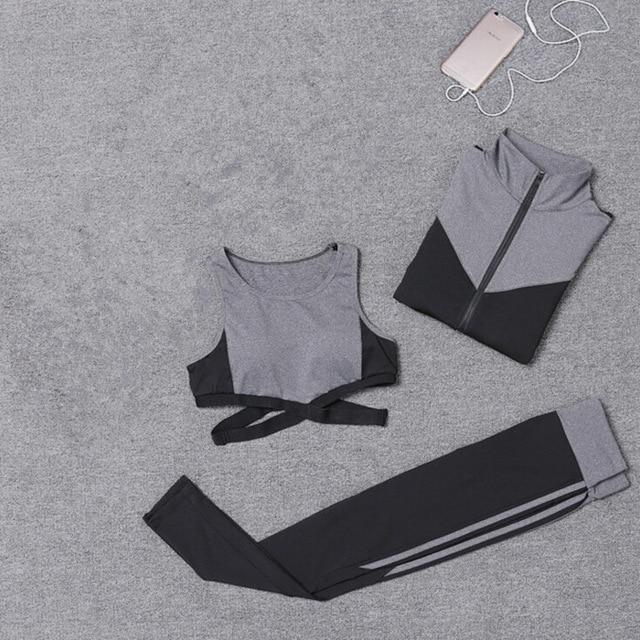 Nellie's Way Active Wear- 5 Pcs set (coat+t shirt+bra+shorts+leggings) - Nellie's Way Beauty, Inc.