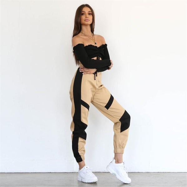 High Waist Cargo Pants - Nellie's Way Beauty, Inc.