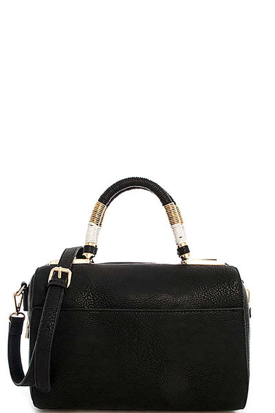 Cute Stylish Moroccan Top Handle Boston Bag With Long Strap - Nellie's Way Beauty, Inc.