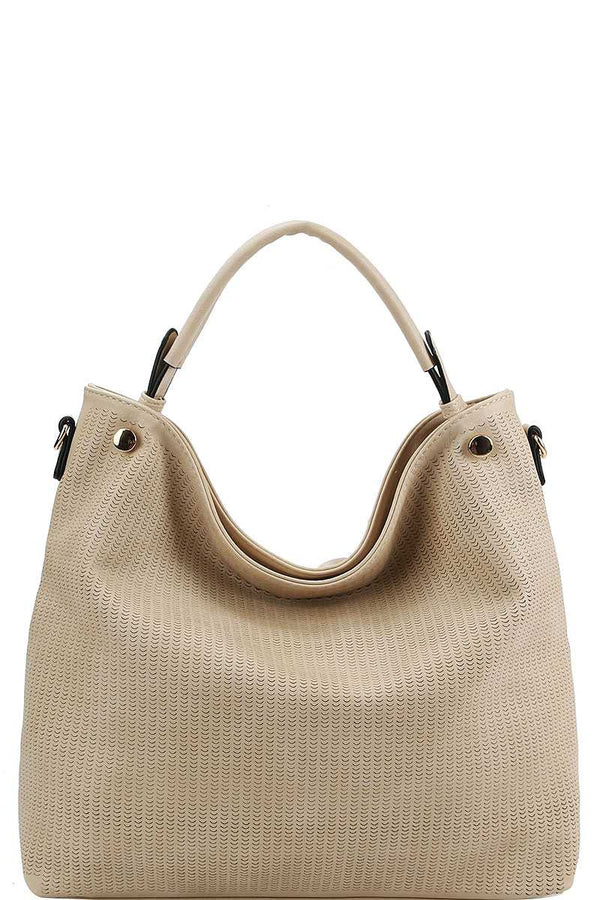 Stylish Modern Mesh Front Hobo Bag With Long Strap - Nellie's Way Beauty, Inc.