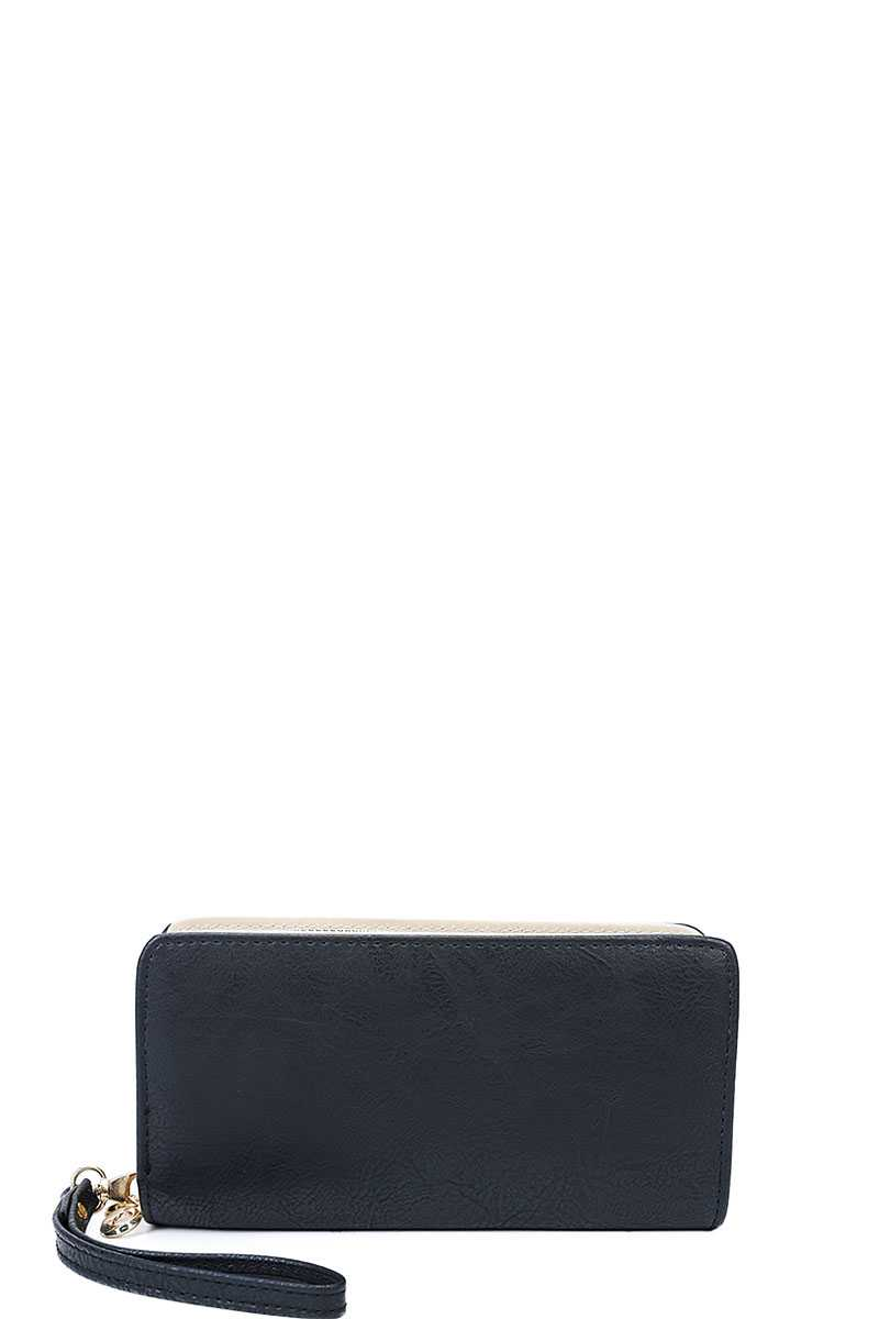 Designer Fashion Solid Color Wallet With Hand Strap - Nellie's Way Beauty, Inc.