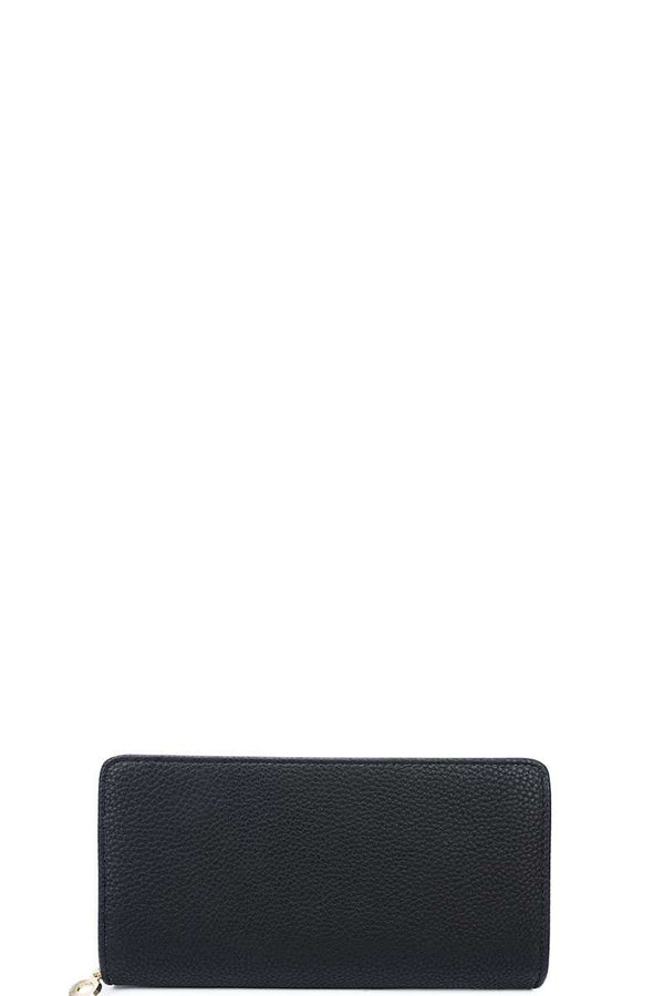 Fashion Solid Color Double Side Long Wallet With Hand Strap - Nellie's Way Beauty, Inc.