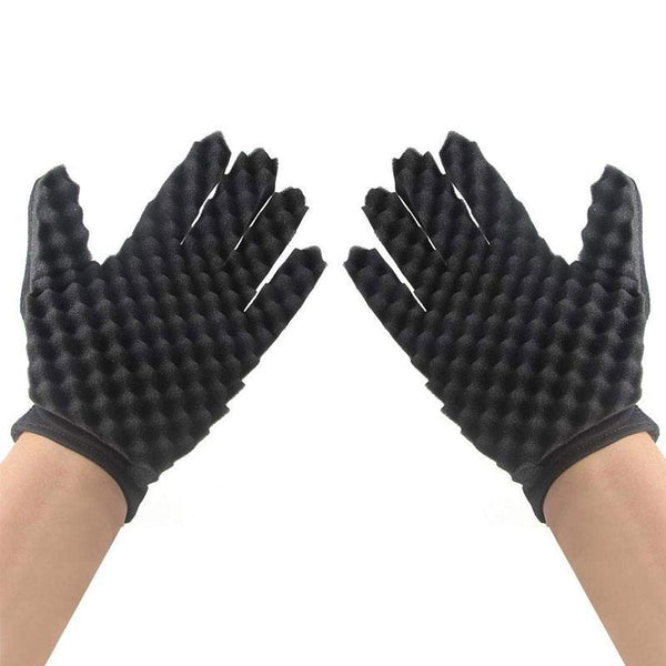 Magic Curl Hair Sponge Gloves for Barbers Wave Twist Brush Gloves Styling Tool For Curly Hair Styling Care - Nellie's Way Beauty, Inc.