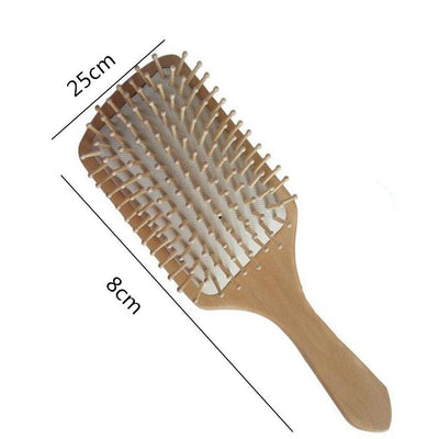 1PC Hair Combs Wooden Vent Paddle Brush Keratin Salon Care  Massage Antistatic Women Styling Brushes Tools BO - Nellie's Way Beauty, Inc.