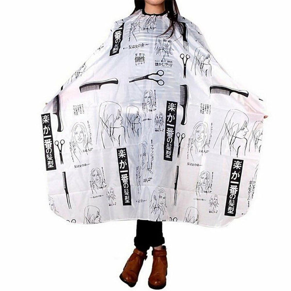 Hairdressing Cape For Print Haircut Hairdresser Apron Waterproof Hair Care Styling Tools Wrap - Nellie's Way Beauty, Inc.