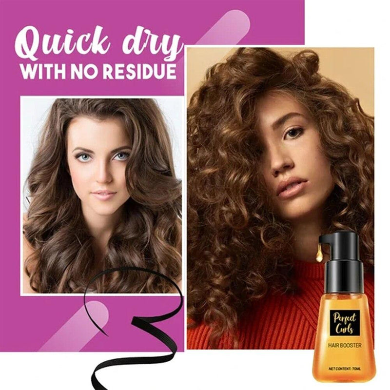 Repair Long Lasting Super Curl Defining Home Salon Conditioner Portable Styling Essence Hair Booster 70ml Moisturize Shine - Nellie's Way Beauty, Inc.