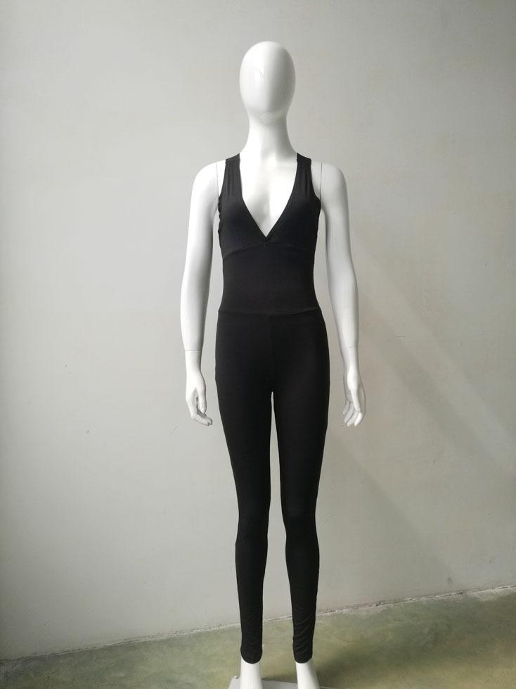 Nellie's Way Active Wear- Deep-V-Lining Bodysuit - Nellie's Way Beauty, Inc.