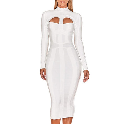 White Bandage  Bodycon Dress - Nellie's Way Beauty, Inc.