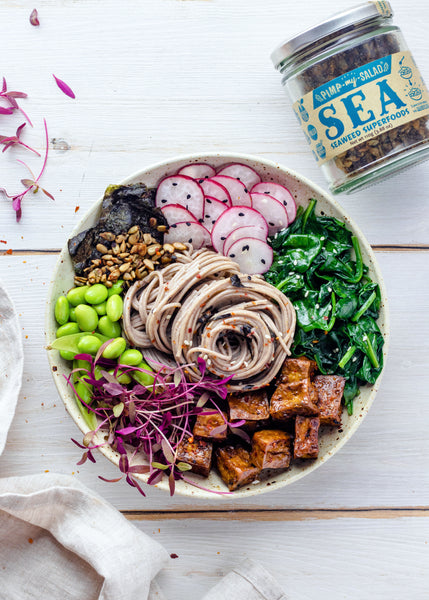 Teriyaki Tofu and Soba Noodle Bowl with Sea Superfoods