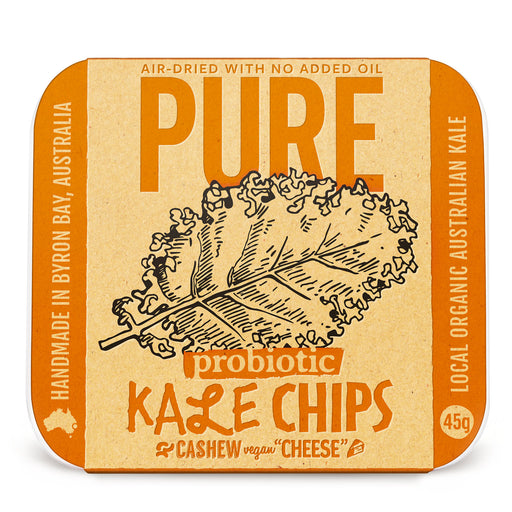 Pure Kale Chips Vegan Cashew Cheese | Healthy Snack |  Crispy Parmesan Kale Chips