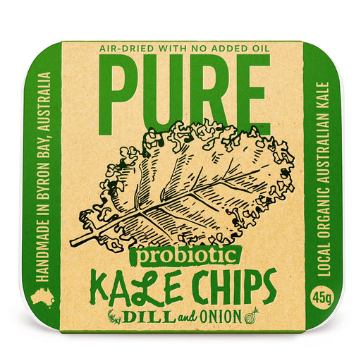 Pure Kale Chips Onion and Dill | Pure Snack | Extraordinary Foods | Best Paleo diet Snack | Vegan Snack