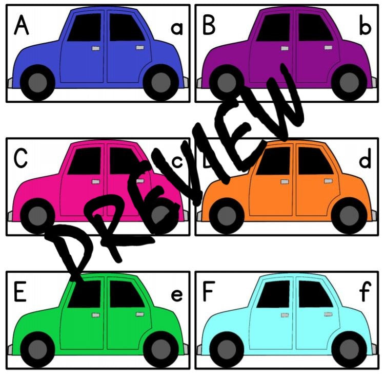Colorful Cars Puzzle